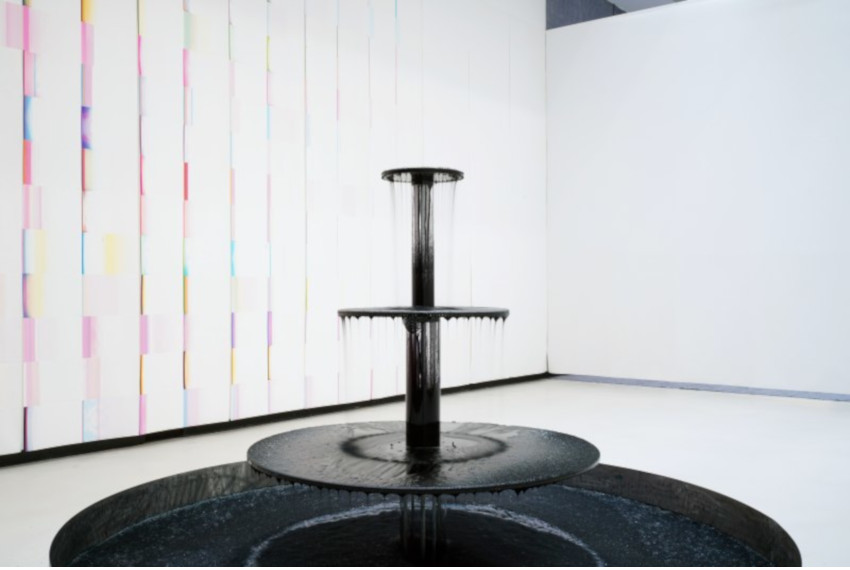 Caline Aoun's ink fountain in the exhibition Seeing is believing